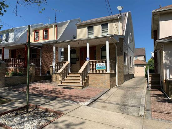 Beautiful one family home in excellent condition. Hardwood floor thru out the house. Big open concept on 1st floor. close to bus, subway, grocery, and school.Finished Basement With Separate Entrance. This is consider the Jamaica Hills area.
