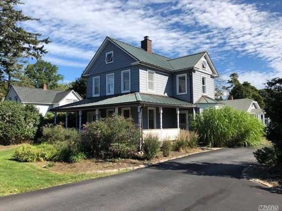Beautifully Maintained Home With Wrap-Around Porch & Hardwood Floors. Huge Eat In Country Kitchen Recently Remodeled W/ New Stainless Steel Appliances. Conveniently Located Within Half Mile Of Downtown Sayville, Sayville Schools & Railroad Station.