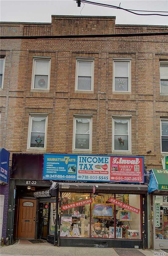 Excellent opportunity to own excellent mixed use in prime location. Close to All major transportation. Over 2000 comm space.