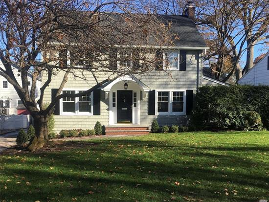 Beautiful Classic Colonial Set On A Quiet Dead End Rd Close To Town, Train & Merriman Park. A Completed Renovation Featuring Lg Entry, FDR, FLR W/Fplc, EIK, Family Rm W/Cathedral, 2.5 Baths, Covered Porch&Walk-up Attic.Upgrades Include New Heating, Baths, Kit, Siding, Roof, Gutters, CAC, Sprinklers, Paint, Fin Bsmt & More! Beach & Mooring Rights.Exquisite & Move-In Ready!