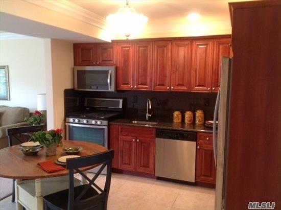 Luxury 55+ Community Featuring Spacious Two Bedroom With Brand New Kitchen With Stainless Steel Appliances & Granite Counter Tops. Granite Bath, Central Air Conditioning, Carpeting, Two Tone Paint, Crown & Base Molding, Waterfront Village Of East Rockaway Location.