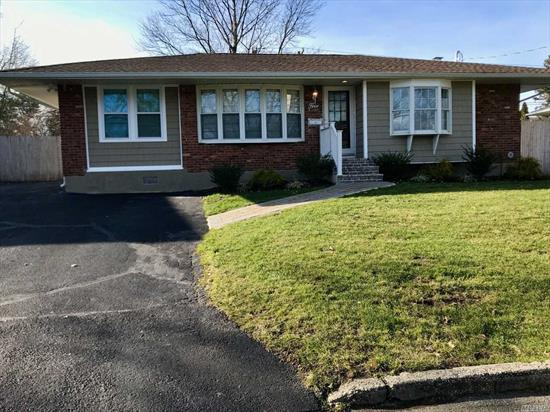 Commack School District! Diamond 3 bedroom, 2 full bath Ranch. Immaculate! Lg EIK w/granite counters, SS applicances. Master suite w/new full bath. 2 additional bedrooms w/new full bath. Living room/dining room. Hardwood flooring. New washer and dryer located in home! CAC. Full finished basement. Close to shopping, major roads, train stations and schools.6 month lease maybe available.