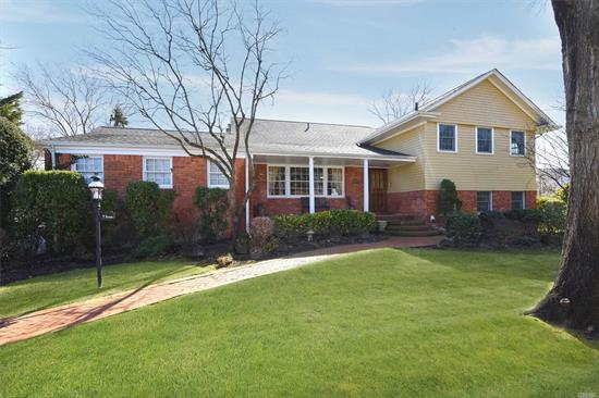 Move Right into This Spacious 5 BR, 3.5 Bth Split Level Home on Beautiful Cul de Sac.State of the Art Kitchen w/Vaulted Ceiling & Fpl. Main Floor & Lower Level Family Rooms with Radiant Heat, Plus Unfinished Bsmt w/ Hi Ceiling.Newer Boiler, HW Htr & Anderson Windows. Roof 11 Yrs.Lovely O/S Property with 3 Pavered Patios. 2 Car Garage. SD#20. Gas in House