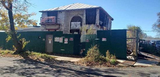 Excellent Location in Little Neck. Corner and large Property located in a quiet area. Close to Grand Central Park way and LIE,  Buses Q36, QM35 SD 26 Close to All and stores. Great opportunity to finish the construction in to your new home. Blue prints are available upon request.