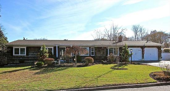 Pristine 4BR, 2 fbath Exp Ranch nestled on a corner lot desirable rustic acres neighborhood. Immac renovated & designed. Stunning Kit, Lg pantry, spac. island, stainless Appl,  banquette DA. Formal LR w/ fplce, barn door to stunning laundry rm.MBR w/ wic & en suite bath. Elaborate millwork, crown molding, recessed light, stunning lite fixtures, flooring & tile work throughout. NEW CAC, alarm system, 2 car gar, meticulously landscaped. Unique details that are endless in this extraordinary home!