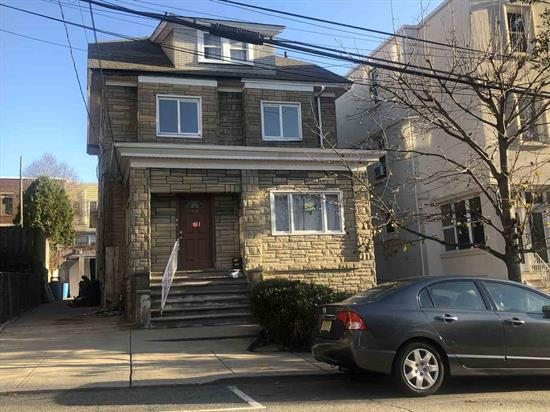 GREAT 2 FAMILY HOME, RIGHT OFF BLVD EAST, EASY NYC COMMUTE. 1ST FLOOR HAS A KITCHEN, 3 BEDROOMS, LIVING ROOM, AND A FULL BATH. 2ND FLOOR HAS A KITCHEN, LIVING ROOM, DINING ROOM, 3 BEDROOMS, AND A FULL BATH. FINISHED BASEMENT WITH PRIVATE ENTRANCE, AND INSIDE ENTRANCE. VERY QUIET STREET ON FASHIONABLE BLVD EAST AREA. CHARMING PROPERTY FOR THE BUYER TO RENOVATE.