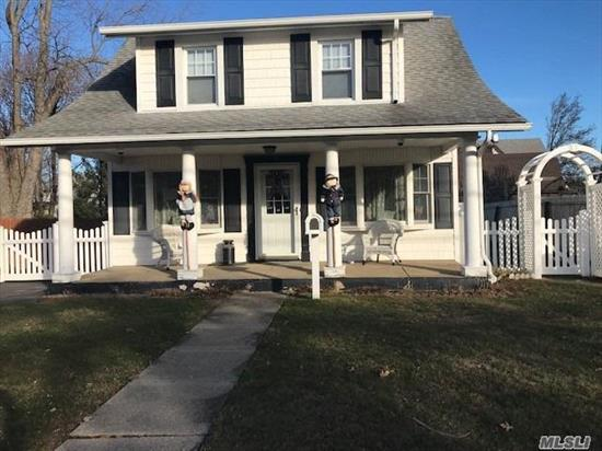 Zone X no flood ins. AG pool a gift or taken down.Prime south Baldwin street, mid block location with reasonable taxes newer roof and siding. Beautiful 125' deep yard. Great curb appeal. Fireplace in living room. Hard wood under carpet.Gas cooking, replacement windows Make it your own