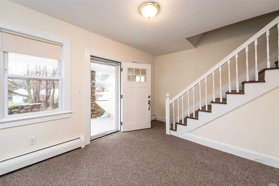 UPDATED LARGE 2/3 BEDROOM RENTAL. HIGH CEILINGS AND 4 FLOORS.TONS OF STORAGE. FULL BASEMENT EQUIPPED WITH WASHER/DRIER AND 2ND REFRIGERATOR/FREEZER FOR YOUR GATHERINGS. SUPER CLOSE TO TOWN, TRAIN AND SHOPPING.