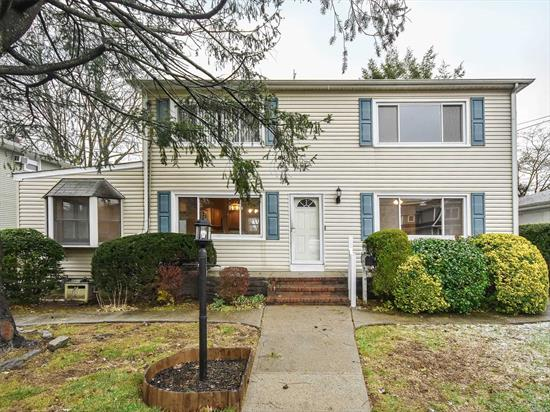 Spacious 2-family property at the end of a tree lined road. Property with lovely front and backyard. Beautifully updated kitchen and sun-room. Totally updated second floor. Basement with egress door to yard.