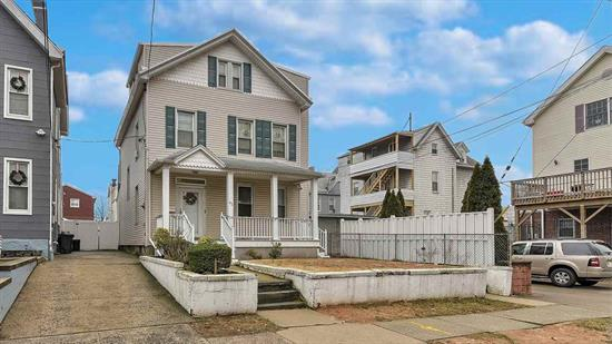 Lovely 2 Family - near Schools, waterfront park, Houses of Worship. Newer heating systems - kitchens and bathrooms. Nice backyard. Near NYC transportation, not far from Light Rail Station. Near shopping, near deli's, plenty of parking (5 cars). Come have a look!!!