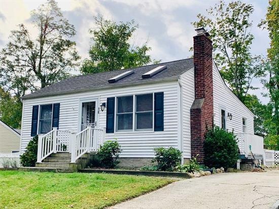 WOW..WOW RARE FIND IN PRIME EAST NORTHPORT LOCATION CLOSE TO LI RAILROAD, SHOPPING, LIBRARY & MUCH MORE! FREE STANDING UPDATED COZY COTTAGE FEATURING: SUNNY & BRIGHT KITCHEN W/ HIGH CEILINGS AND SKY LIGHTS, LIVING ROOM W/ ADORABLE DECORATIVE FIREPLACE, 2 SMALL BEDROOMS, OFFICE SPACE OR WALK-IN CLOSET, NICE FULL BATH WITH WASHER & DRYER, PLUS BASEMENT CELLAR -OSE- GREAT FOR STORAGE **BONUS**SPACIOUS FULLY FENCED YARD! SMALL PET OK W/ APPROVAL (TENANT PAYS ALL UTILITIES)