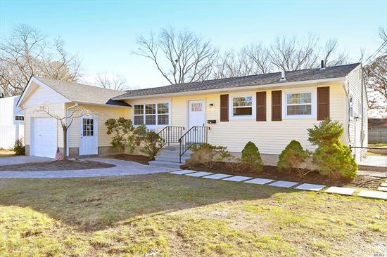 This fully renovated Ranch is your new home for the holidays! Featuring 3 beds/2 full baths, a pretty kitchen with white shaker-style cabinetry, granite counters & stainless appliances, new bathrooms, cozy family room w/ wood burning fireplace, full finished lower level with separate outside entrance, leading to a private fenced-in backyard, situated on .26 acres with a quiet mid-block location. New roof, walkways & windows. 1 car garage. Welcome home!