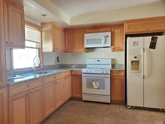 Huge fully renovated 3 Box bedroom!!!!!! Huge kitchen with a lot of cabinets New appliances Dinning room Living room 2 bathrooms windows in each room Lot of closets hardwood floors Freshly painted New floors Pets are NOT allowed!!!!!! Heat and water included!!!!!