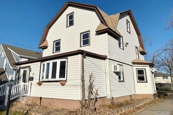 Home Sweet Home! Spacious 3 story colonial home. Old World Charm! Hardwood floors. Spacious yard with room for garage. All large bedrooms. This is a great opportunity to be in your new home within a short time. Close to shopping, Long Island Railroad and highways. A short drive to Jones Beach.