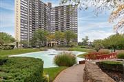 Fabulous Bay Club Gated Community. 24 hour security. Doorman / Concierge. Large 1 bedroom unit on a high floor with water view & pond view. Terrace. Year round Swim & Fotness Center., Indoor Parking (extra fees). Free tennis club. On premises restaurant. Underground stores. Indoor& outdoor basketball. Children's playground. & much more. Best location ..... near everything.