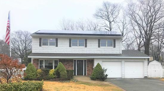 4 Bedrooms, 2 1/2 Bath, 2 Car Garage Colonial with Custom Kitchen, Granite Counter Tops, SS Appliances, Hardwood Floors, Fireplace, Public Sewage, Basement and Solar Panels.