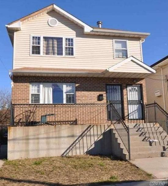 Well maintained legal 2-Family featuring 6 Bedrooms, 4 Full Baths, private driveway, nicely sized backyard. Great Investment Property!