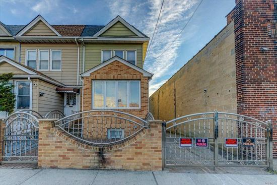 Great Two Family Investment Property In East Elmhurst ... 1 Bed/1 Bath Over 1 Bed/1 Bath With Full Basement And Garage ... Parking ... Near To Transportation ... Call For More Details