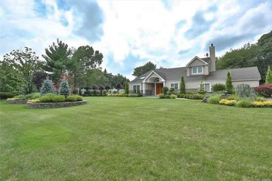 Move right into this Diamond, expanded colonial in highly desired Mills Pond Estates! Pristine& totally renovated inside & out, this home boasts a state-of-the-art kitchen (2018) w Bosch appliances incl oversized wine fridge & dbl ovens. Kitchen flows into 25x25 den w soaring vaulted ceilings. Country club yard w IG, SW, htd pool w outdoor kitchen, sports court & jacuzzi! First floor play room/office. All baths updated, HW floors throughout, surnd sound. Andersen windows, Roof 2005. Do not miss!