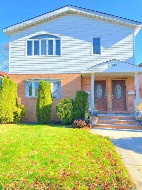 Beautiful updated 2 Family Home sits on a very desirable and quiet block in the heart of Fresh Meadows. This 40X126 property is zoned for 4 families is a rare find in the area. Each floor has 3 large size bedrooms. The master suite boasts its own private full bath on each floor. There is a additional full bath as well for each unit. Newly painted - recessed lighting - new windows - gorgeous hardwood flooring -ample closet space throughout! Centrally located to shopping-restaurants and St. Johns!