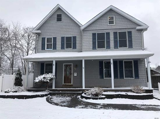 All replaced windows, sliders to rear deck Pergo Floors thru out Belgian block lined and paved driveway paved walkway wrap porch Updated Kitchen