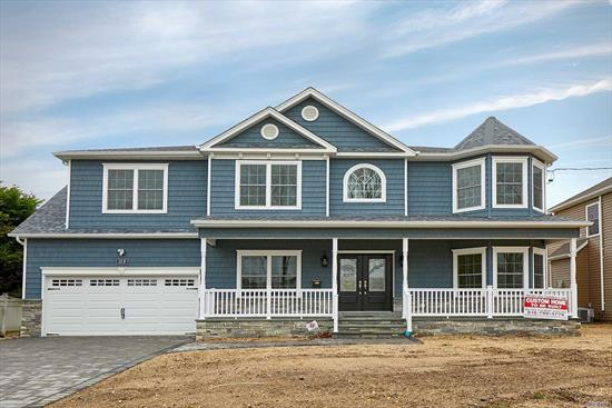 Brand-New Custom Center-Hall Colonial Being Built On RARE 11, 100+ SqFt of prop BACKING TO MASSAPEQUA PRESERVE! *INTERIOR Pics Are Of Same Model Home By Same Quality Builder Of 30+ Yrs.* March Est. Completion-- add your finishing touches now! Approx 3500 Total Int Sq Ft Of Open Flr Plan (+ Huge Bsmt w/O-S-E & Porch) Expertly Designed & To-Be-Finished W/Utmost Quality Of Craftsmanship. Designer Baths, Custom Kit, Pella Wdws, Intricate Trimwork Throughout, 1st Flr Bdrm/Office & Fbath, 2-Car Gar, ++!