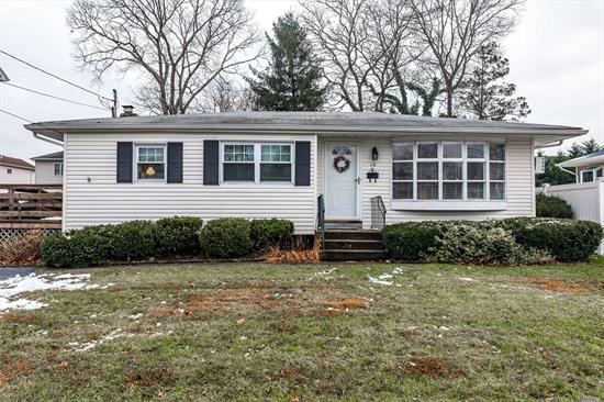 Beautifully, maintained 3 Bedroom Ranch in the heart of Massapequa. This home offers an EIK, DR or 3rd BR, Living Room, Full Bath, Full Attic with tons of storage, and a finished basement with a workshop, laundry area , utilities, and media room.