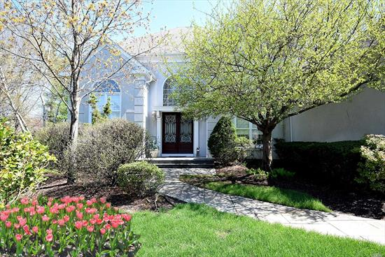 Extraordinary Colonial Is Attractively Set On .58 Acre Of Extensive Lushly Landscaped Property In Prestigious Stone Hill Gated Community In North Hills. Magnificent, One-Of-A-Kind Beautifully-Maintained 4 Bedrooms and 3.5 Baths in Manhasset School! An Open Floor Plan With Hi-Ceilings Living Room, Family Room with Fireplace, Master Suite On Main Level. Amazing Sun room. Private Cul-De-Sac. Furnished Rental! 3 Car Garage.