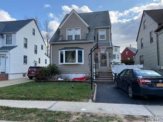 Detached Gibson Colonial w large rooms Updated kitchen, Bath, Boiler, Windows, Siding. Back Deck. Garage, Pvt Driveway. Pool is a gift. Close to LIRR, Pkway, Shopping, Schools. Easy Access to transportation and NYC