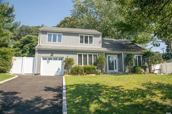 Colonial WITH Hardwood Floor. Updated KITCHEN & Bath. Slider To The Deck. Den With F/P. Master Br Has Wic And Full Bath. Finished Basement With Ose. High Hats. Skylight. Lr Has Cathedral Ceiling. C/A/C, NEW BOILER & WATER HEATER. Near To SMITHTOWN LANDING Golf Course.