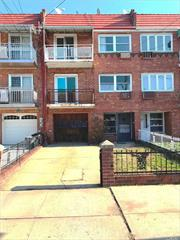 Lovely 3 story, 2 family attached brick with a pvt driveway and 1 car built-in garage. Very large house built 21x47 on a 21x100 lot.Contains 5 BRs & 3 baths. Hardwood floors. Balconies on 2nd & 3rd floor. Large rear yard. Beautiful block in prime E. Elmhurst. Walking distance to all & minutes to all major NYC Highways and Airports.Great potential. A Must See! To help visualize this home's floor plan and to highlight its potential, virtual furnishings have been added to photos in this listing.