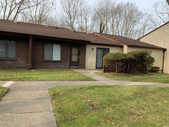Perfect location, handicapped accessible..Many updates including, heating & A/C, floors, granite counter in EIK & many new appliances..A must see..Enjoy golf, gym, bowling & much more in this very active, country club community..