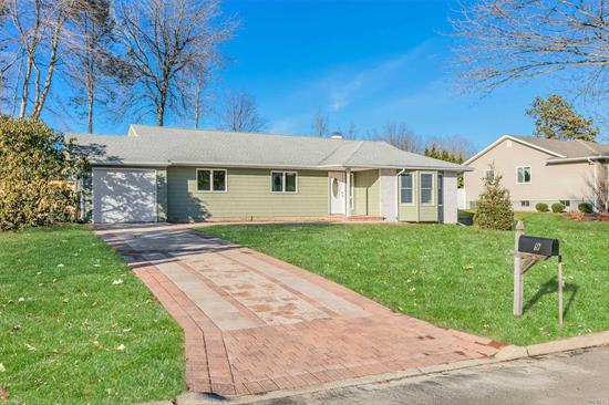 Renovated Ranch. 3 large bedrooms, 2 full baths, den w/fireplace & cathedral ceiling. New granite SS kitchen. Formal DR, LR, foyer. Private backyard and new fence. New gas heat, ac and 200 amp electric service. New floors & rugs throughout. New siding, gutter, Paver driveway, patio & walk.