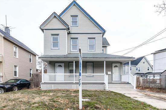 RENOVATED LEGAL 2 FAMILY HOME WITH OVER 3, 000 SQ FT OF LIVING SPACE! PERFECT FOR BIG FAMILY OR LIVING IN PART OF THE HOUSE AND RENTING OUT FOR GOOD INCOME! HOUSE HAS FULL BASEMENT AS WELL WITH SEPARATE ENTRANCE!