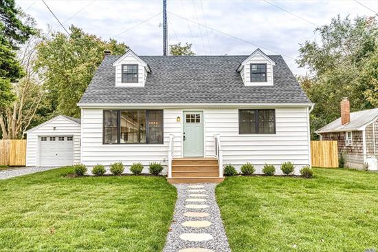 Expanded 2 Story Cape With Open Concept. Significant Remodel With High End Finishes. New Mechanicals & Heating System, CAC Plus Many More Luxury Amenities. Wonderful Private Yard, 4 Spacious BRs And Detached Garage. Right In The Heart Of Greenport Village!