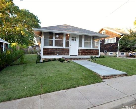Enclosed front porch, living room/dining area, 2 beds, 1 bath, EIK and full finished basement. Private patio and driveway.