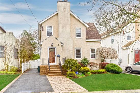 3 Bed..2.5 Bath Gables Style Colonial Located in Mid Block..This House Has Definite Curb Appeal..Once inside You Have a Living Room with a Wood Burning Fireplace and Parquet Floors....Despite the Period in which it was Built it has an Open Feeling..Living Room Den..FDR EIK.. then 1/2 Bath ..Upstairs are the 3 Beds..Huge Master, w/WIC and 2 others..Full Bath in Bsmt .and lots of Storage..X Flood Zone..Owner Pays No Insurance..Garage is there for Storage//...