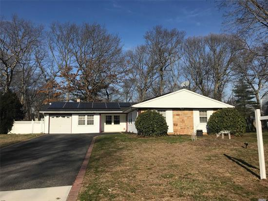 Lovely 3 Bed/2 Bath L-Shaped Ranch In The W-Section Of Coram. Potential Den/Office Off Of Kitchen. Brick Fireplace In Living Room. Spacious Backyard With Loads Of Potential! Long Private Driveway. Energy Efficient Solar Panels. Middle Country School District. Minutes Away From Route 112 And The Port Jefferson Ferry!