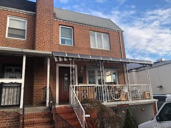 Legal 2 family, 1st and 2nd floor are a duplex plus a legal basement apartment. Private backyard, convenient to shopping center, schools, house of worship, Q47 and Q66 bus. Private driveway for parking. Lots of living space plus rental income to support your mortgage payment. Don't wait, Call Now!