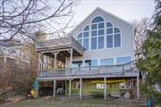 Absolutely Stunning unobstructed Waterview from this treetop home. 2nd Level Great room w/wall of windows overlooking the L I Sound & Conn, This is better than a waterfront home because you do not have to worry about bulkheading but yet you still have magnificent views. Home was renovated about 15 years ago w/Anderson windows, Hardwood floors thru out, Updated Kitchen and baths, 1 year old burner, Finished walk out basement, Private yard. Just a few steps to Friendship beach.