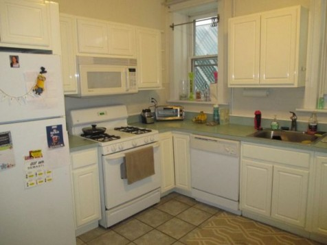 Recently renovated apartment 2 years ago. This apartment is located on the ground floor.  It can be entered below the porch or thru the main door and walk down to the ground level. Free washer/dryer for all tenants on the ground level.   Railroad style apartment can be used as 1 BR + den OR as a 2 bedroom. 2nd bedroom can be accessed via a separate entrance from the common hallway which allows bedrooms to be entered separately via common exterior hallway OR both bedrooms can be entered walking thru one to get to the other.   Modern kitchen with Ref , Gas stove, micro & D/W. Updated bathroom. Windows in kitchen, Livingroom,  Bath and 1 bedroom. Large common yard.  AC window units allowed.  NO DOGS. CAT MAY BE OK. NO SMOKING.  Good credit & refs required w/credit check.  2 occupants max.   SECURITY FREE OPTION AVAILABLE TO QUALIFIED RENTERS.   Heat and hot water included. 1/2 block from Church Square Park. Close to Washington street and less than a 6-minute walk to downtown PATH makes this an excellent starter apartment for those commuting in NYC or working locally.