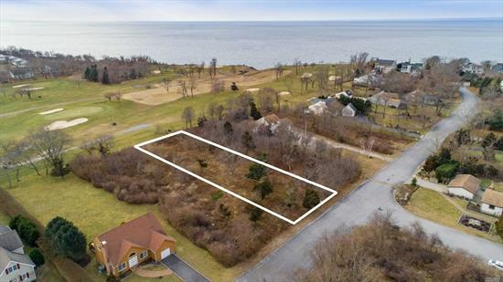 1/2 Acre Building Lot That Backs Up to The Golf Course in East Marion's Desirable Pebble Beach Sound Front Community. Enjoy the Community Tennis Court and Beautiful Deeded Long Island Sound Beach.
