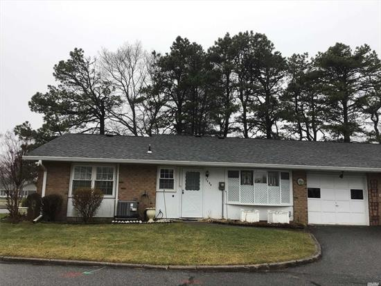 Great corner location with long driveway. Regency model with over 1600 sq ft of living space. This home features updated open floor plan. Kitchen has top of the line wood cabinets with pull outs, hi hat lighting, white appliances, Kitchen open up into dining room, Huge Living room,  and an all season sunroom! Plenty of space to entertain. Newer A/C installed 2018, some Newer Windows, Laminate and carpet flooring.