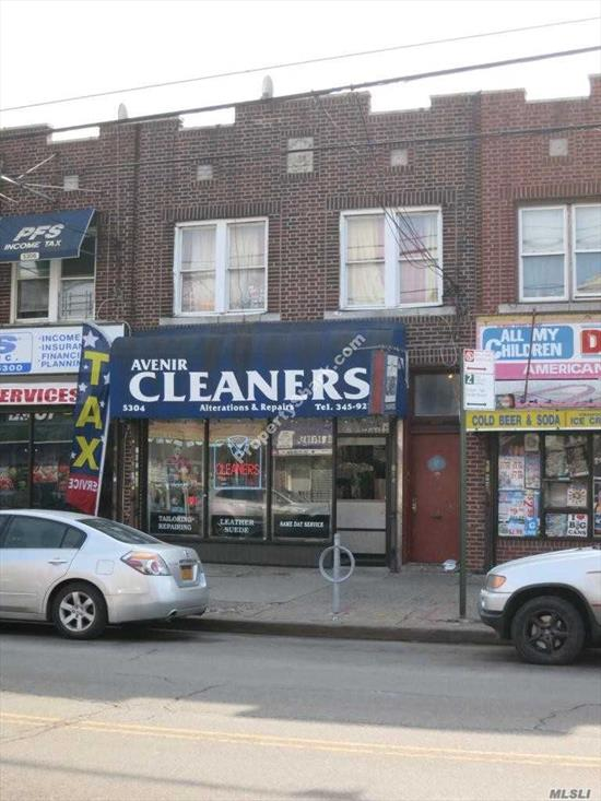 Great Mixed-Use Building in East Flatbush. The First floor features Store-front with access to a full basement. 2nd floor features two 2 bedroom apartments. Rents are Projected. the building is vacant. Great investment w/Potential 7%
