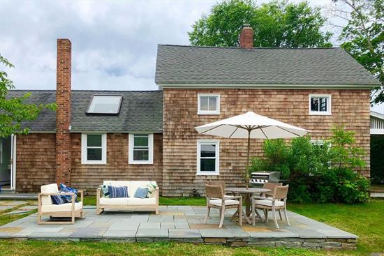 Sunny farmhouse with room to play in the heart of the North Fork. Expansive lawns, blue stone patio with outdoor seating, a short hop to beautiful beaches, wineries, and restaurants, with a farm stand just across the street.Great tenant feedback!