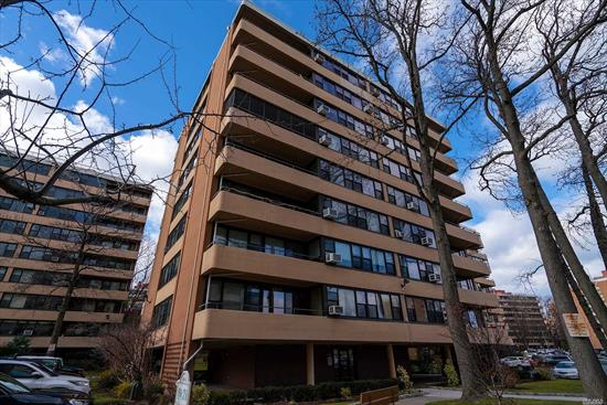 Large and Spacious One Bedroom Co-op Apt. Le-Harve Is The Premier Luxury Building In The Heart Of Beechhurst. Direct Water & Bridge Views Await You From The Two Balconies. Apt Has New Paint & Carpet. In Excellent Condition. Complex Has Two Pools, Three Tennis Courts, Two Playgrounds & Health Center. Express Bus To The City & Close To Shopping And Highways. Parking $60 A Month + Transfer Fee. Move Right In!.