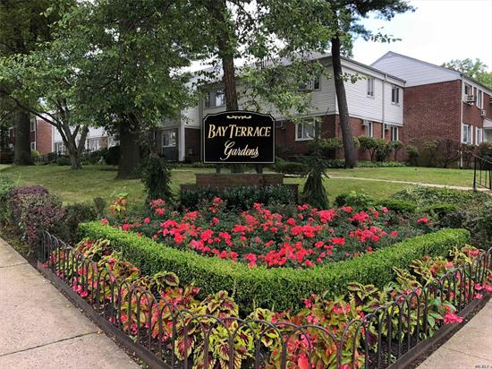2 Bedroom 1 Bath Deluxe Upper unit in Bay Terrace Gardens. Maintenance Of 944.45 Includes 3 Air Conditioners, Dishwasher, Washer, Dryer, Gas & Electric. Walk To Bay Terrace Shopping Center, Library, Elementary / Middle School, Express Bus, Local Bus, Pool Club (Not Part of Coop)