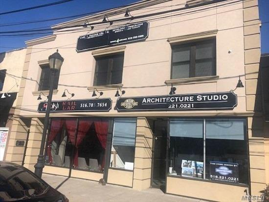 Completely Renovated Office Suites for Rent! *Building Completely Renovated *2 Offices plus Reception/bullpen Area *Lots of Windows *Video Intercom *Second Floor *Next to LIRR  across from McDonalds excellent location