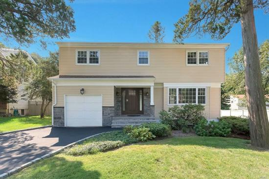 Totally New Renovation in N. Syosset Cul-de-Sac! Close to LIRR! This stunning and bright 4 Bdrm/2.5Bth Side Hall Colonial offers an open & spacious layout w/attention to details & craftsmanship! Kitchen w/Island, gas cooking & SS appliances! Den w/Fpl & sliders leading to large trex deck! Master Bdrm w/Fbth & large closet plus 3 Bdrms & Fbth! Incredible finished basement!