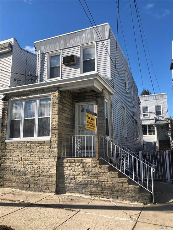 There are 2-homes on this lot. Front home is 2-story, 1-family Colonial with 2nd Flr rear Balcony and finished basement, gas steam heat. The rear House is 2-stories, set up as a 2-family. 1st Floor has 2-bedroom, 4-room apartment and 2nd floor is 2-bedroom, 4-rooms, This home has a new Oil Heating System and unfinished basement